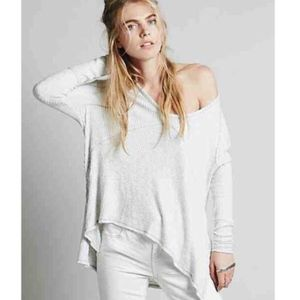 Free People light gray knit sunset park thermal